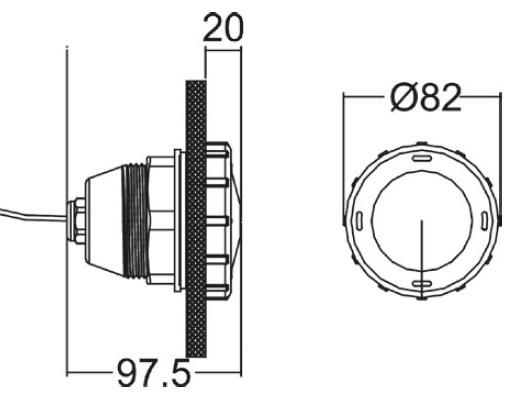 Lampa basenowa LED, Typ P50 1